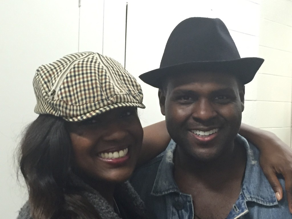 Deborah Joy and Juan Winans backstage.