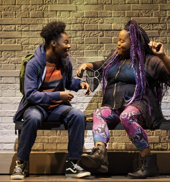 Kadijah Raquel and Ashley D. Kelley in the world premiere of Eve's Song, written by Patricia Ione Lloyd | Photo credit: Joan Marcus